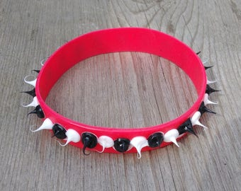 Soft spikes silicone wristband stim toy