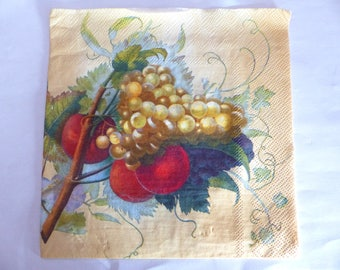 fruit grapes napkin