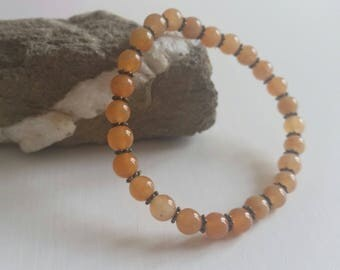 Red Aventurine bracelet - beads 6 mm