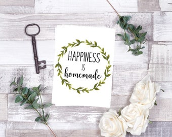 Happiness is Homemade Wreath Printable