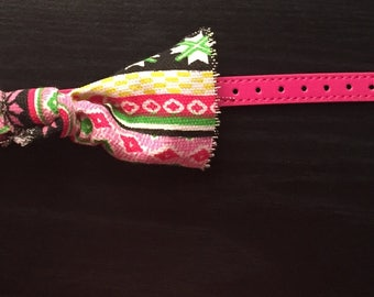 Pink pet collar with bow