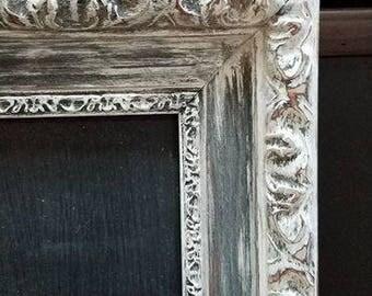 Distressed Anitque White Chalkboard 16x20