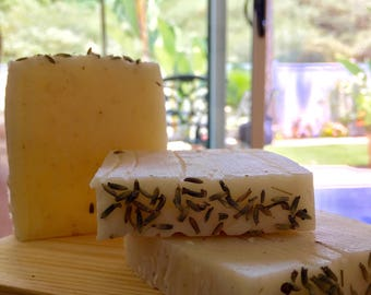 2 Lavender and Rosemary Soaps, Essential Oils, Natural, Handmade, Lavender, Soaps, Soap bars, bath, gifts, gift ideas