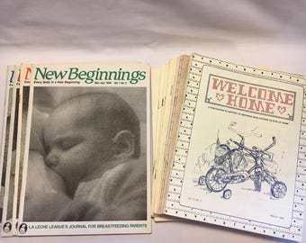 New Beginnings and Welcome Home Publications for New Mothers 1980s