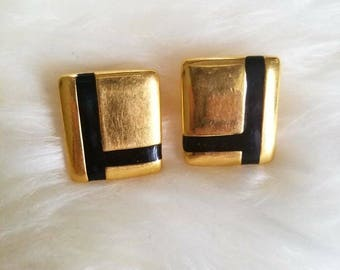 Vintage Geometric screwback earrings
