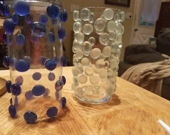 Glass bubble bead vases
