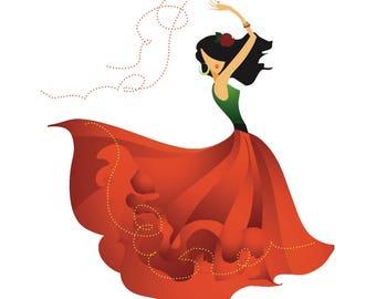 Beautiful Girl Woman Dancer