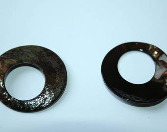 Ring Pearl Brown 3 cm