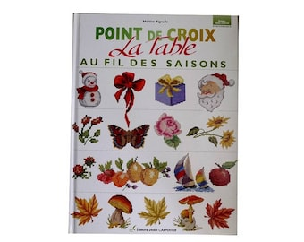 The table through the seasons - patterns of seasons embroidery cross stitch book
