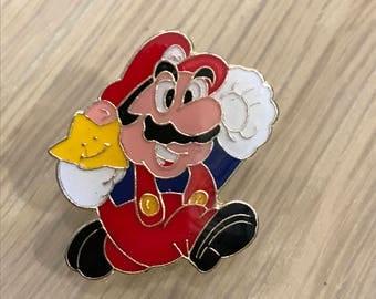 Vintage Nintendo Super Mario Mario Brothers Pin 1988