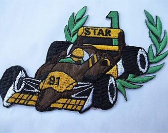 applique patch badge car racing 9001.1 vintage for the customization of clothing and accessories
