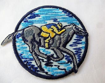 applique badge patch race HYPPIQUE 4 vintage for sewing, craft or sewing