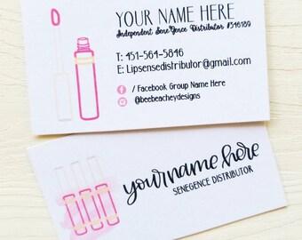 Lipsense Business Card, Lipsense Card, Lipsense, Lipsense Business, Senegence, Lipsense Party, Lipsense Printable, Lipsense Distributor