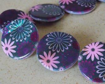 Round Pearl violet pink flowers