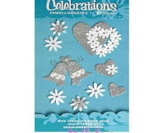 "Special 3D stickers parties ""petaloo"" embellishment scrapbooking card *."