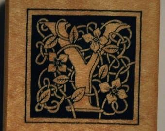 Wood stamp - letter Y