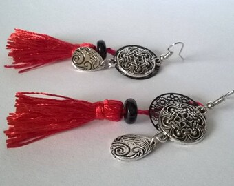 Red & Black earrings