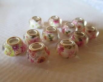 haematite 1.4 cm flower patterns set of 11 beads bracelets jewelry creations