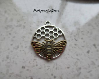 PENDANT HONEYCOMB accessory jewelry 2.9 cm creation with chain