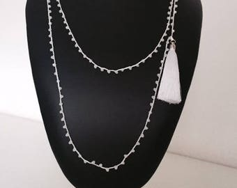 LONG CHAIN NECKLACE WITH CRYSTALS