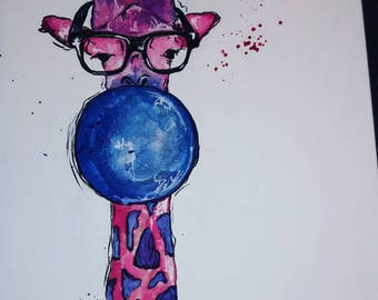 Acrylic giraffe