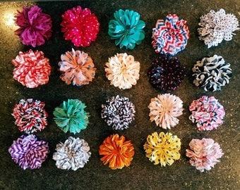 18 Handmade Flower Hairclips