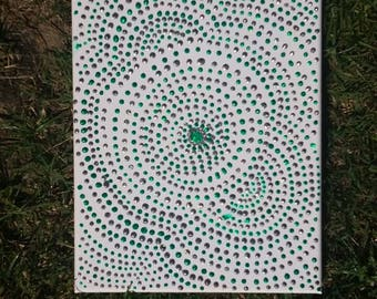 8 x 10 Geometric Aboriginal inspired design on Canvas