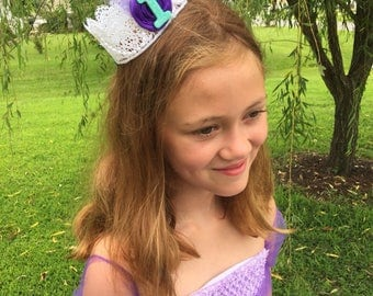 Mermaid Princess Crown, Birthday crown, Birthday party supplies, First Birthday crown, Under the sea Crown