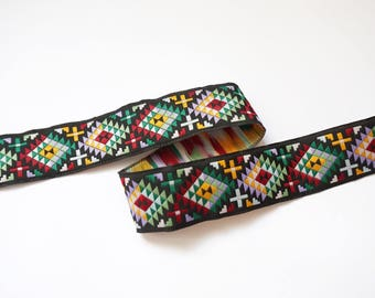 Ribbon woven ethnic multicolor 30 mm