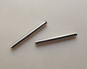 Pearl TUBE set 4 GR 40PC METAL 20 mm silver