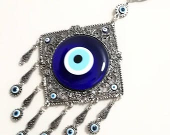 Amulet blue evil eye - wall decor-Turkish nazar-Ornament for home-evil eye wall hanging- good luck charm evil eye