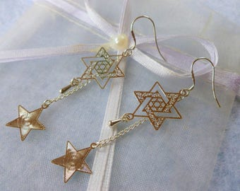 "Earrings ""lucky star"""