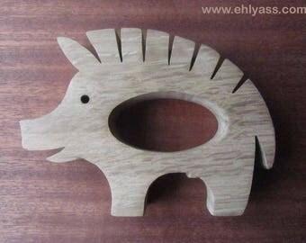 """Wood BOAR """"inspiration celtique"""" (thick) napkin"""