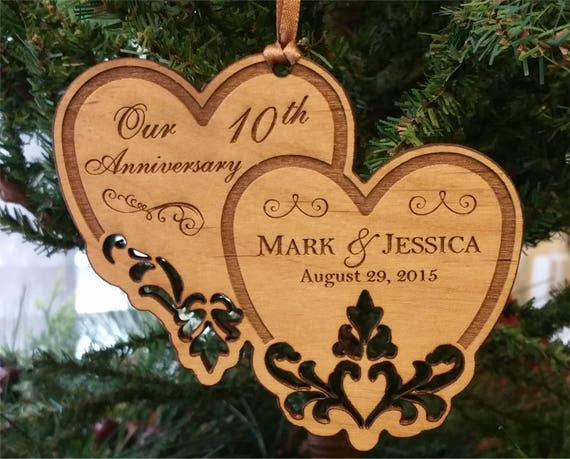 Personalized Ornament Anniversary Ornament 1st Anniversary