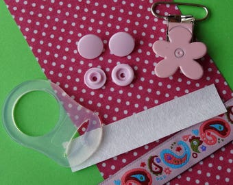 KIT pacifier ring adapter silicone - DIY