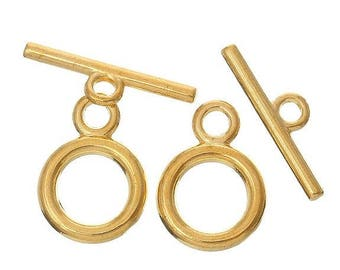 Toggle clasps gold plated 14 x 19 mm individually