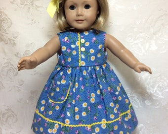 He loves me , he loves me not.  Dress fits American Girl Doll.