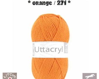 White horse Uttacryl, orange color (271) acrylic yarn