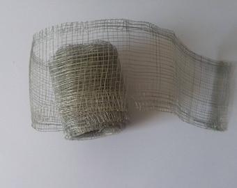 7cm x 266cm grey tulle roll