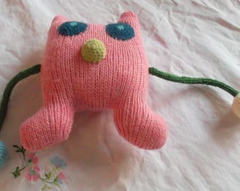 Candy pink Monster Plushie
