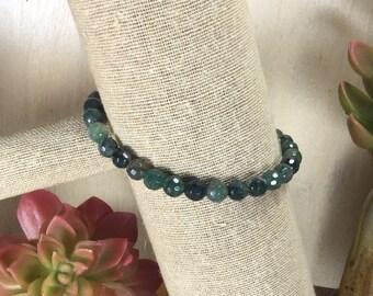 Moss Agate Gemstone | Stretch Bracelet | Stacking Bracelet | Boho Bracelet | Crystal Bracelet | Healing Crystal Jewelry