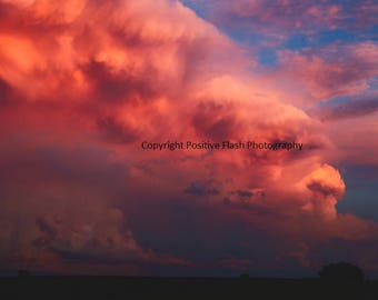 Storm cloud sunset photography sunset wall art photography printable wall art sunset art print storm photography digital instant download