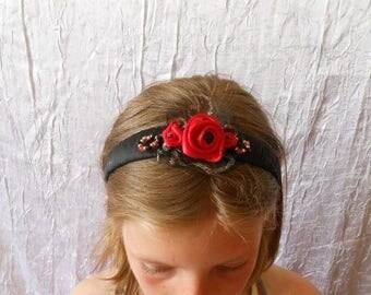 A pretty black and Red headband
