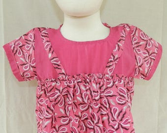 Dress No. 9 Pink for baby from birth to 1 year. One size