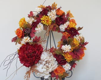 Autumn Wreath with Copper Accents