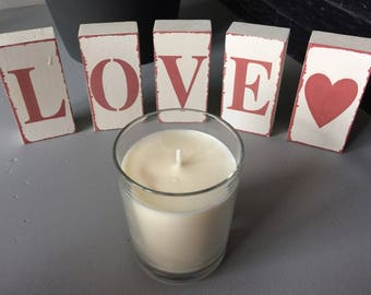 Handcrafted candle 180 grams, soy wax