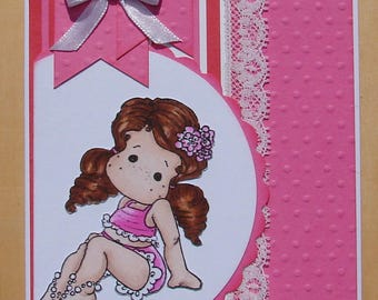 card all occasions stamp magnolia pink lace and Ribbon