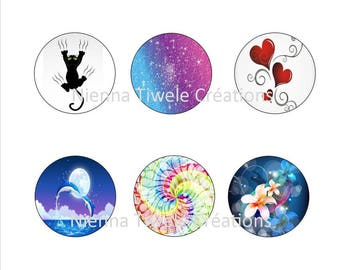 96 digital picture to print,for earrings cabochon 12mm