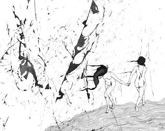 Evaporate II -A3 Giclée print