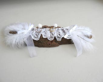Wedding ring bearer pillow * Driftwood country style